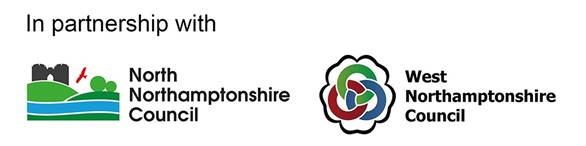 North Northamptonshire Council and West Northamptonshire Council partnership logo